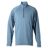 【LeVon】男涼感吸濕排汗抗UV長袖POLO衫-灰藍-LV8263