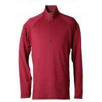 【LeVon】男涼感吸濕排汗抗UV長袖POLO衫-棗紅-LV8265