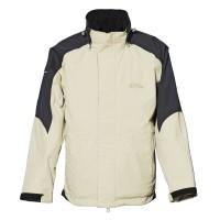 【LeVon】男防水透濕保暖外套-卡其(內層黑)-LV3152