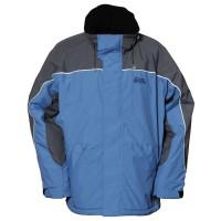 【LeVon】男防風潑水刷毛外套-暗藍-LV3160