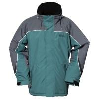 【LeVon】男防風潑水刷毛外套-深葉綠-LV3161