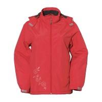 【LeVon】女防風潑水刷毛外套-紅-LV3177