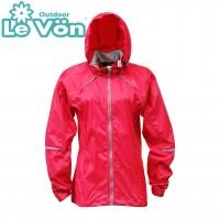 【LeVon】女抗紫外線單層風衣-玫瑰紅-LV3341