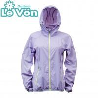 【LeVon】女單層薄夾克-薰衣紫-LV3343