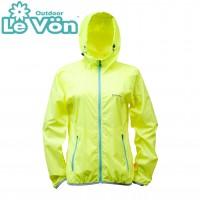 【LeVon】女單層薄夾克-螢光黃-LV3345