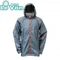 【LeVon】男抗紫外線單層風衣-鐵灰-LV3346