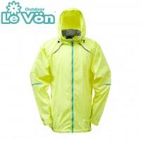 【LeVon】男抗紫外線單層風衣-螢光黃-LV3347