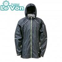 【LeVon】男抗紫外線單層風衣-黑-LV3348