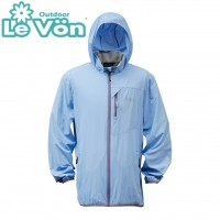 【LeVon】男抗紫外線單層風衣-煙藍-LV3450
