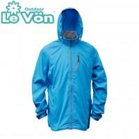 【LeVon】男抗紫外線單層風衣-水藍-LV3459