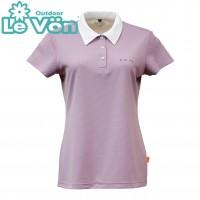 【LeVon】女吸濕排汗抗UV短袖POLO衫-芋紫-LV7428