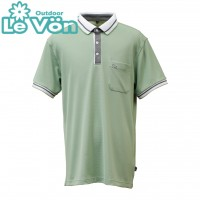 【LeVon】男吸濕排汗抗UV短袖POLO衫-森林綠-LV7438