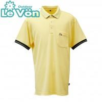 【LeVon】男吸濕排汗抗UV短袖POLO衫-奶油黃-LV7440