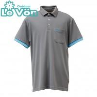 【LeVon】男吸濕排汗抗UV短袖POLO衫-鐵灰-LV7441