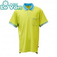 【LeVon】男吸濕排汗抗UV短袖POLO衫-淺綠-LV7442