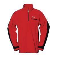 【LeVon】男雙刷毛保暖上衣-紅-LV8121