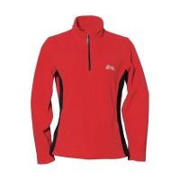 【LeVon】女雙刷毛保暖上衣-紅-LV8128
