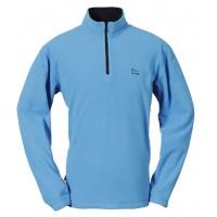 【LeVon】男竹碳刷毛保暖上衣-水藍-LV8236