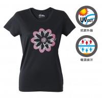【LeVon】MIT女吸濕排汗抗UV短袖圓領衫- 黑LV6203